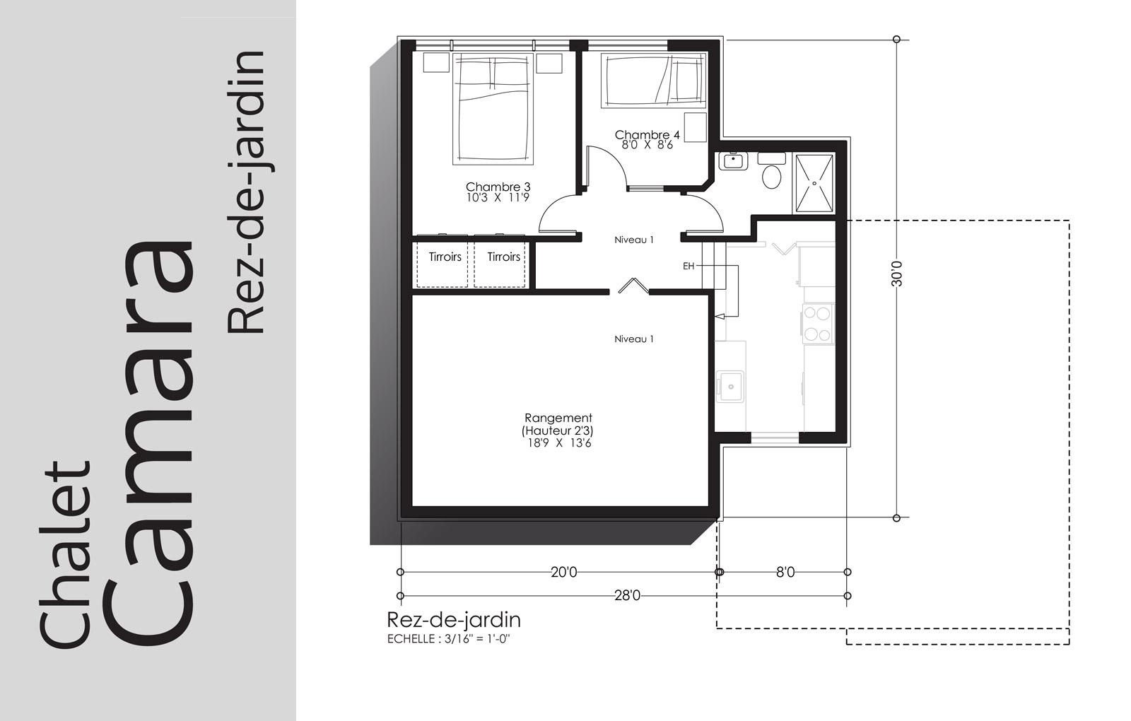plan Camara - Rez-de-jardin - Domaine Escapad