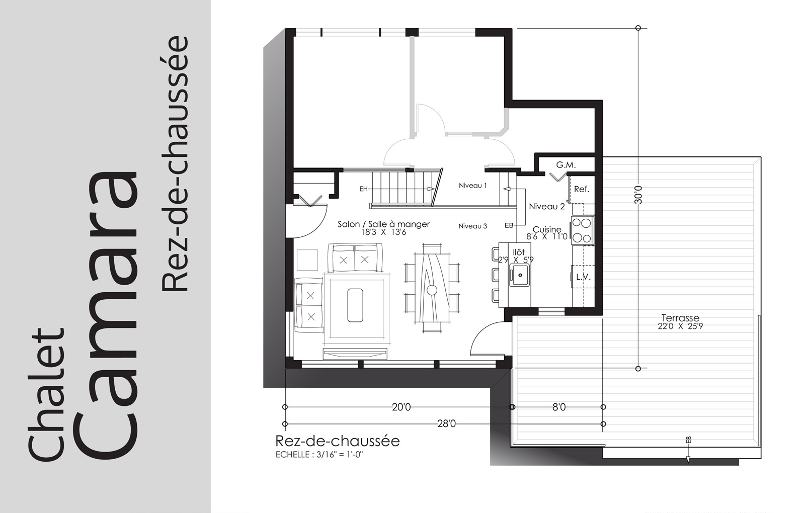 plan Camara - Rez-de-chaussée - Domaine Escapad