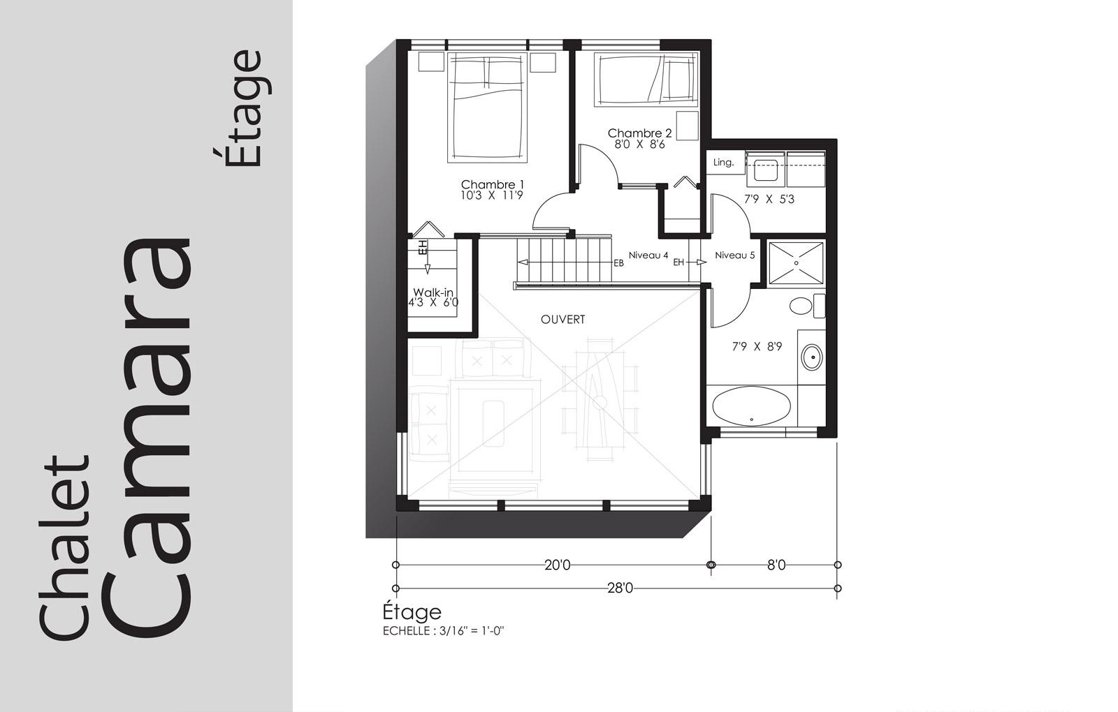 plan Camara - Étage - Domaine Escapad